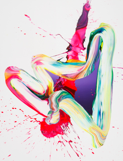 yago hortal neon abstract art