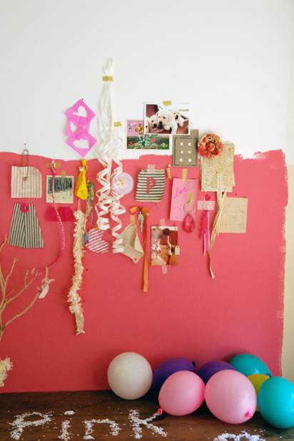 pink inspiration board wall