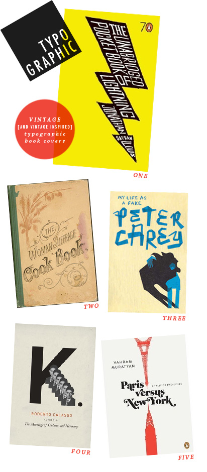 typo graphic by kelsey cronkhite, vintage typographic book covers