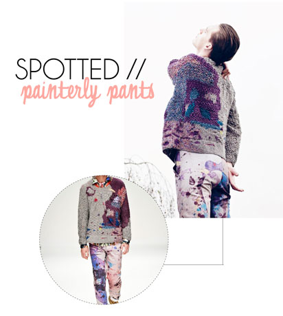 painterly pants