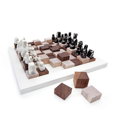 a modern chess set design for mankind