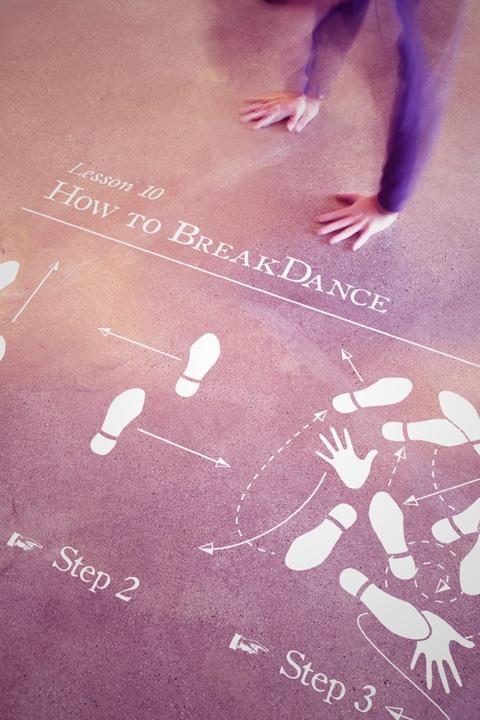 how to break dance floor decal