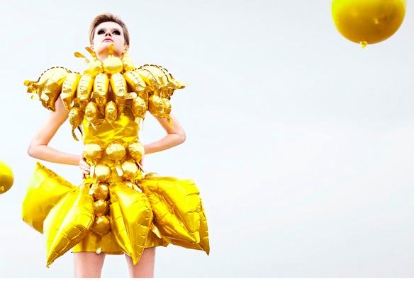 balloon banana dress