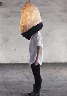 newspaper lamp
