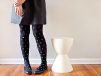 DIY polka dot tights