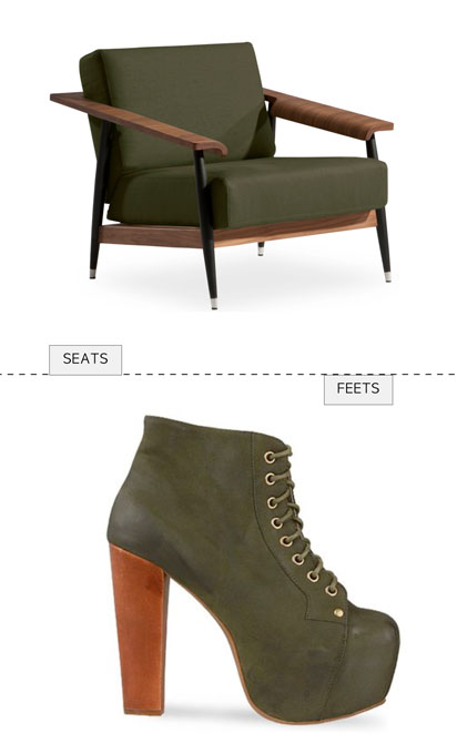 matching chair and shoes