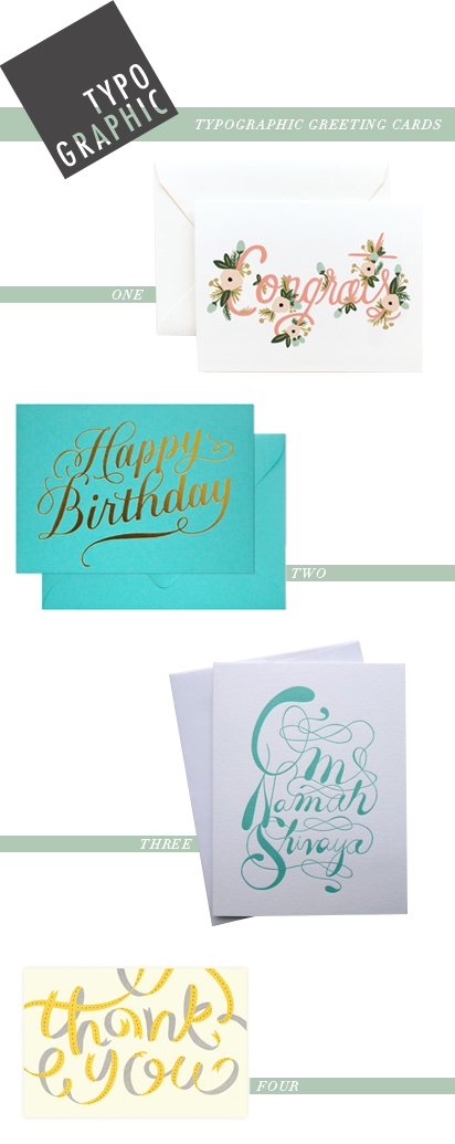 TYPO GRAPHIC- typographic greeting cards, by kelsey of pinegate road