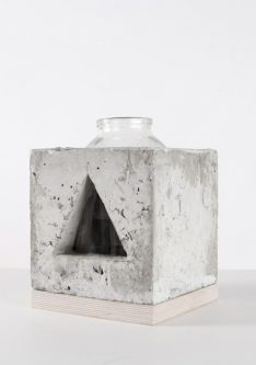 triangle concrete vase