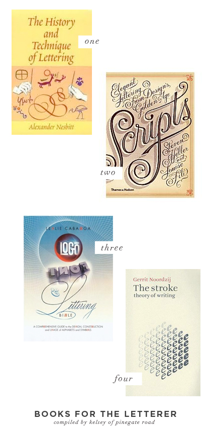 TYPO GRAPHIC-books for the letterer by kelsey of pinegate road