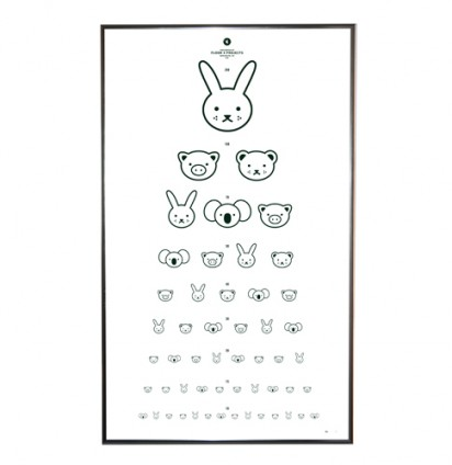 A Cute Animal Eye Chart For Your Kids Playroom
